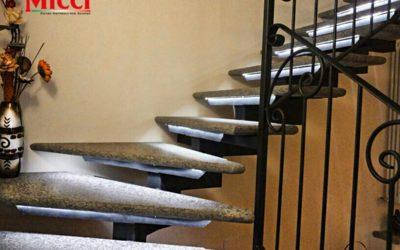 Scale in pietra lavica di Peperino, moderne e particolari