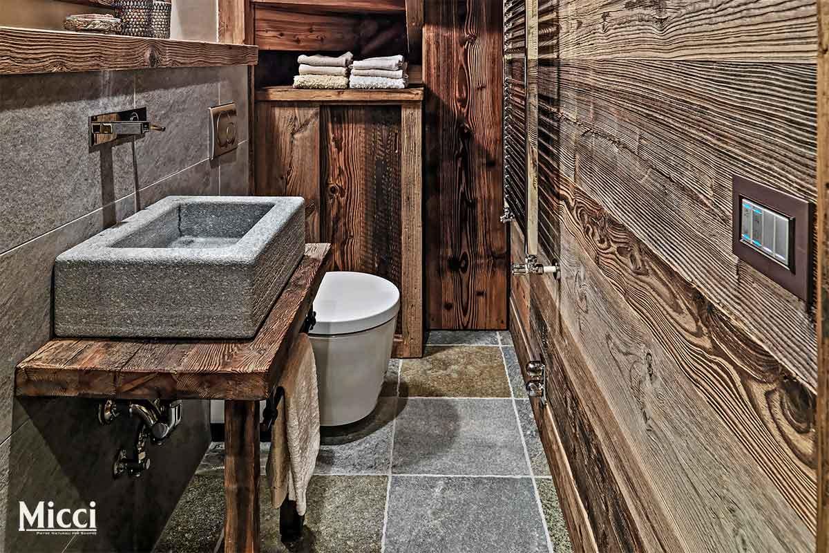 lavabo in pietra da appoggio
