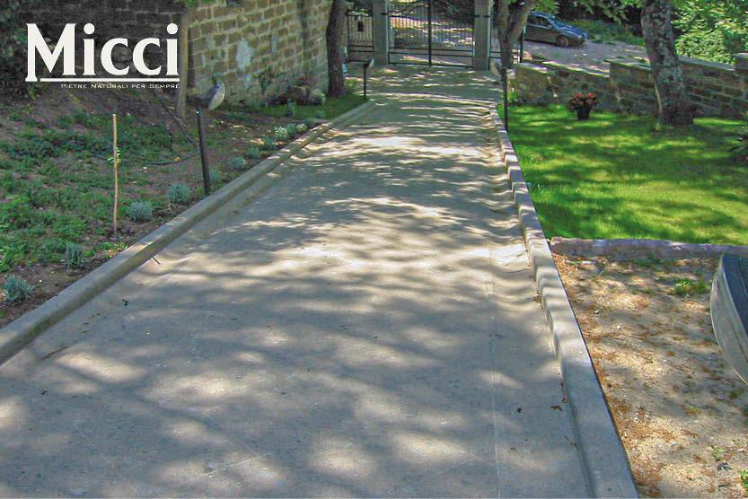 pavimento esterno carrabile per viale d'ingresso